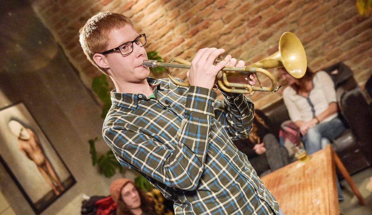 Zu Gast im Fernsehen. Foto: Christian Grässlin privat.