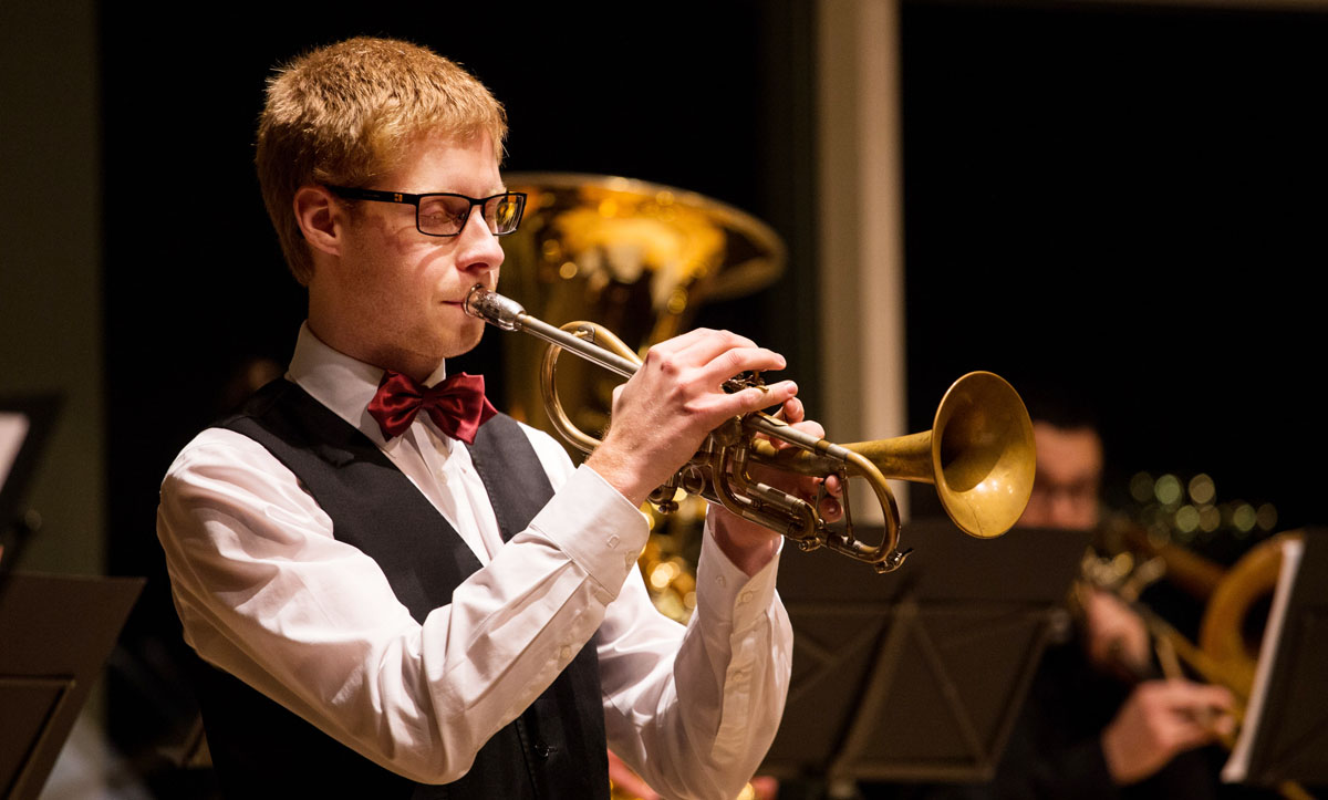 Zumindest im Outfit des klassischen Solotrompeters. Foto: Christian Grässlin privat.