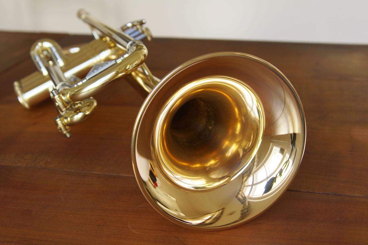 Wohl maßgeblich für den warmen Klang des Testinstruments verantwortlich, aber sicher nicht für die extrem gute Spielbarkeit der Spirit: Das Schallstück aus Goldmessing.